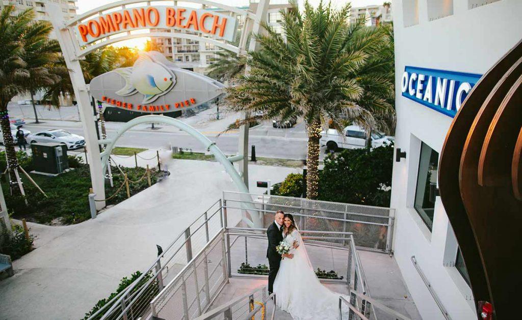 Wedding Event Couple Pompano Pier