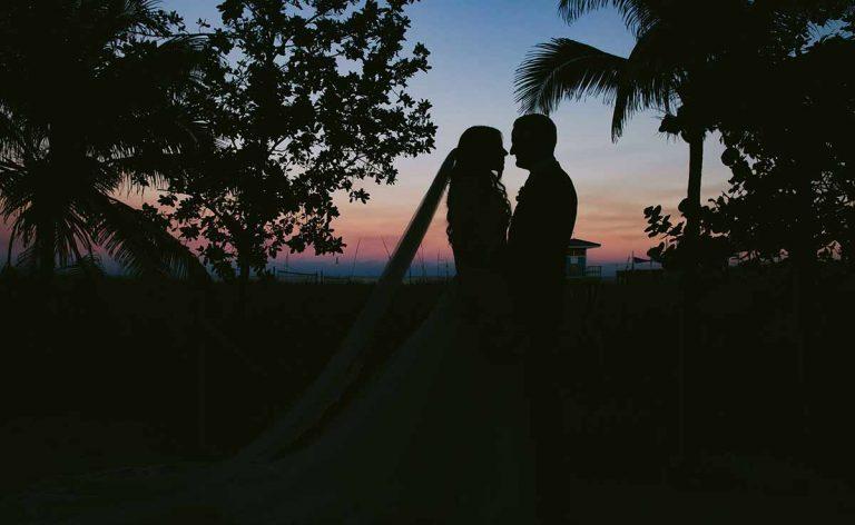 Wedding Event Couple Sunset