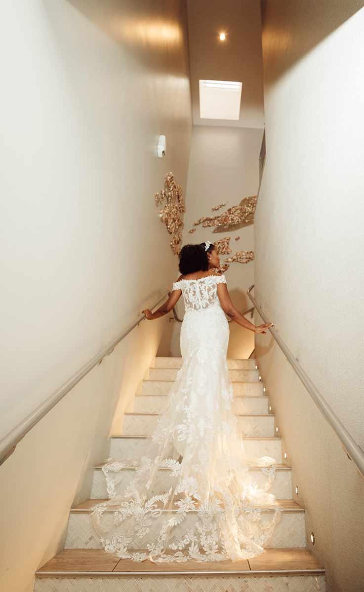 Wedding Event Bride Stairway